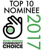 Top 10 Nominee 2017 Metro Winnipeg Community Choice
